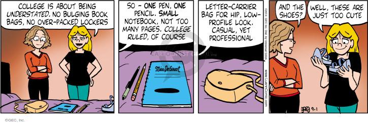 Cartoonist Greg Evans  Luann 2014-09-01 book bag