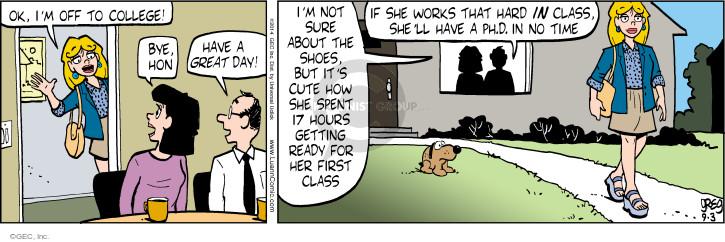 Comic Strip Greg Evans  Luann 2014-09-03 excitement