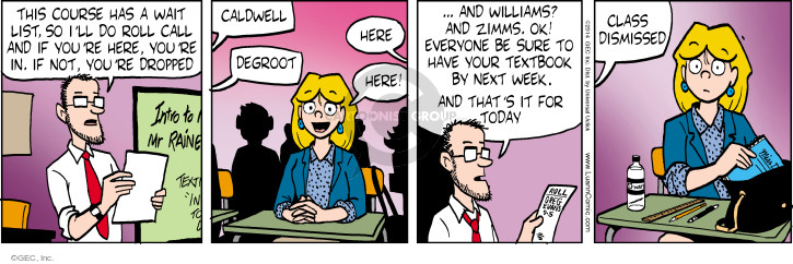 Comic Strip Greg Evans  Luann 2014-09-05 present