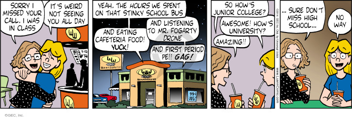 Comic Strip Greg Evans  Luann 2014-09-10 junior college
