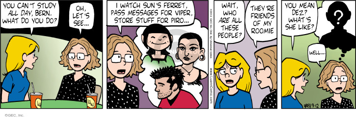 Comic Strip Greg Evans  Luann 2014-09-12 pass