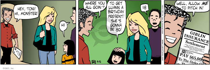 Comic Strip Greg Evans  Luann 2014-09-15 policy