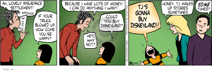 Comic Strip Greg Evans  Luann 2014-09-17 payoff