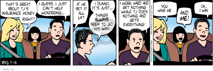 Comic Strip Greg Evans  Luann 2014-09-18 payoff