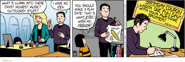 Comic Strip Greg Evans  Luann 2014-09-20 coupon
