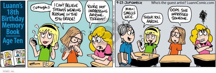 Comic Strip Greg Evans  Luann 2014-09-23 fifth amendment