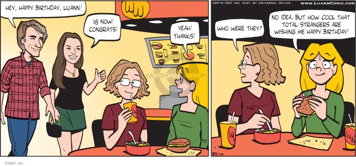 Comic Strip Greg Evans  Luann 2014-09-28 wish