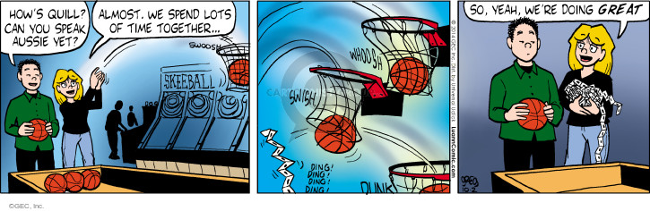 Comic Strip Greg Evans  Luann 2014-10-02 basketball net