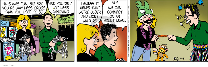 Comic Strip Greg Evans  Luann 2014-10-04 older