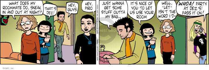 Comic Strip Greg Evans  Luann 2014-10-08 whoa