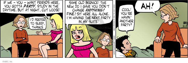Comic Strip Greg Evans  Luann 2014-10-17 friendship