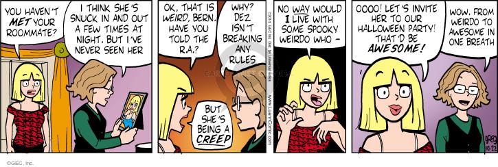 Comic Strip Greg Evans  Luann 2014-10-22 night