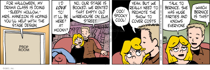 Comic Strip Greg Evans  Luann 2014-10-27 sleepy
