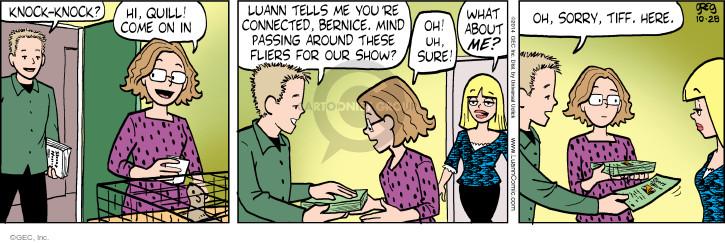 Cartoonist Greg Evans  Luann 2014-10-28 mind