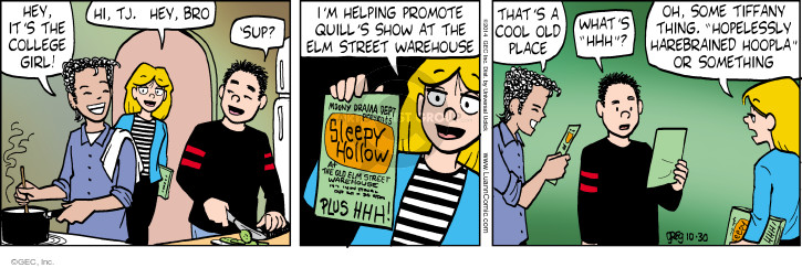 Comic Strip Greg Evans  Luann 2014-10-30 sleepy