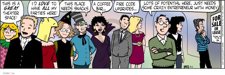 Comic Strip Greg Evans  Luann 2014-11-01 space
