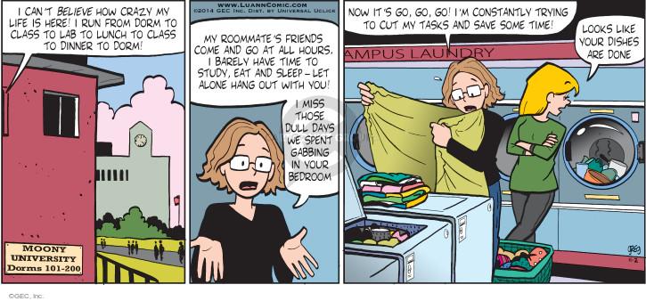 Comic Strip Greg Evans  Luann 2014-11-02 lunch