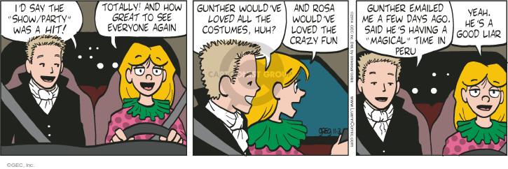 Cartoonist Greg Evans  Luann 2014-11-03 Rosa