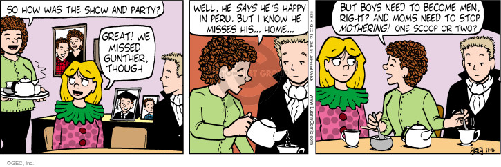 Comic Strip Greg Evans  Luann 2014-11-05 Gunther