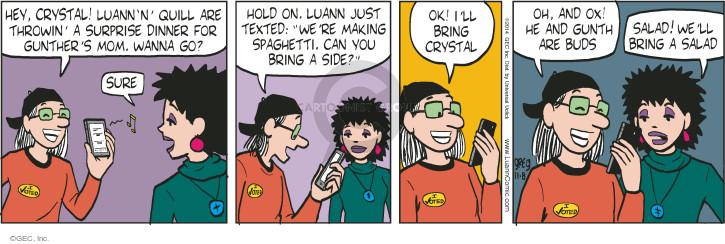 Comic Strip Greg Evans  Luann 2014-11-08 crystal