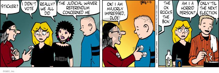 Comic Strip Greg Evans  Luann 2014-11-13 ballot box