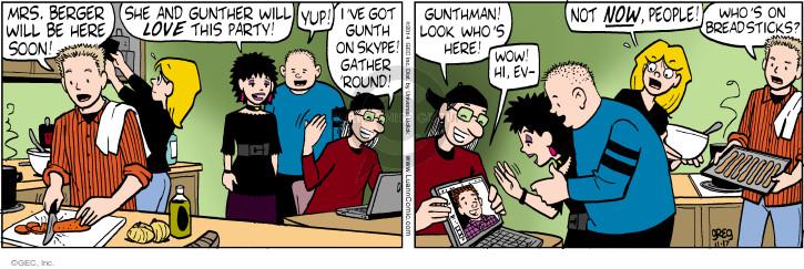 Comic Strip Greg Evans  Luann 2014-11-17 Gunther