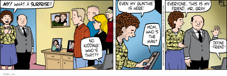 Comic Strip Greg Evans  Luann 2014-11-20 companion