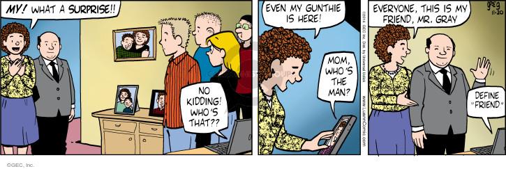 Cartoonist Greg Evans  Luann 2014-11-20 date