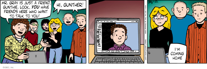 Comic Strip Greg Evans  Luann 2014-11-22 companion