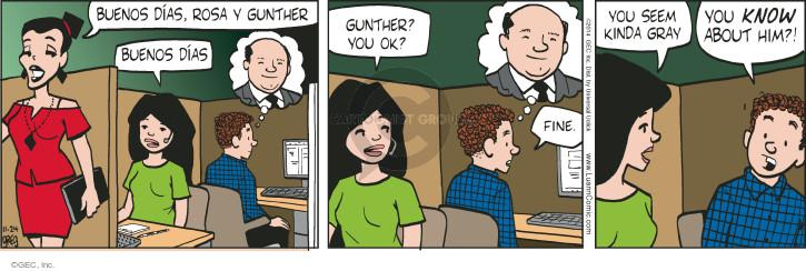 Cartoonist Greg Evans  Luann 2014-11-24 Rosa