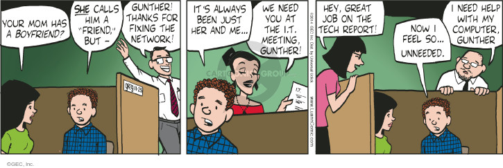 Cartoonist Greg Evans  Luann 2014-11-25 technology