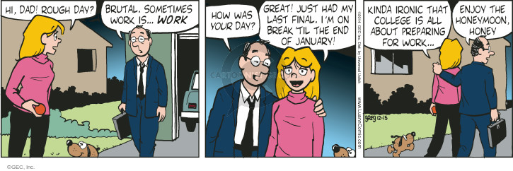 Cartoonist Greg Evans  Luann 2014-12-15 great job