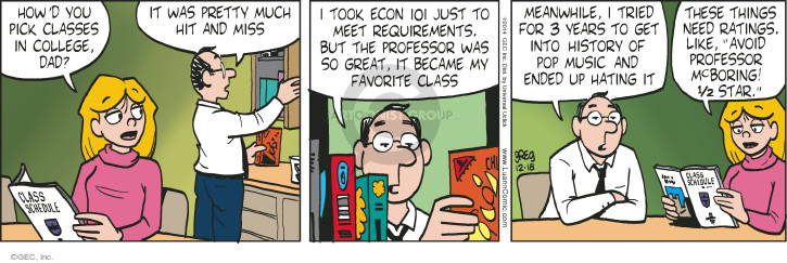 Comic Strip Greg Evans  Luann 2014-12-18 economics