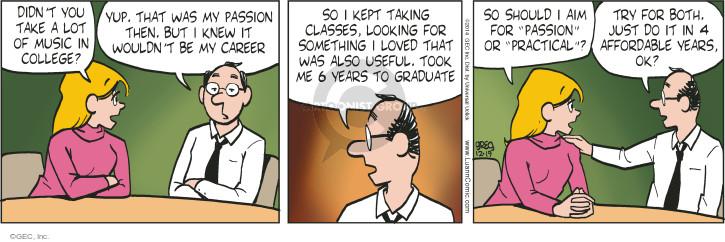 Comic Strip Greg Evans  Luann 2014-12-19 career