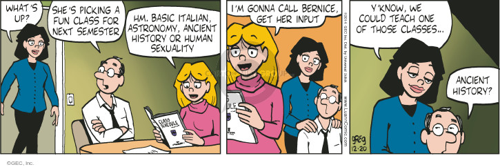 Comic Strip Greg Evans  Luann 2014-12-20 know