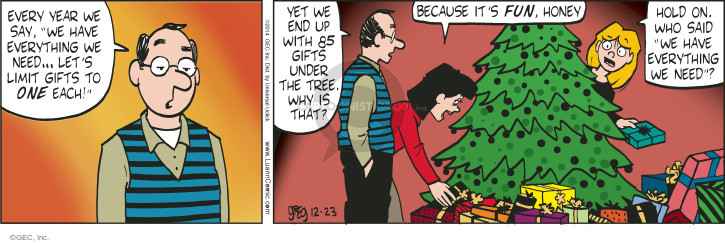 Comic Strip Greg Evans  Luann 2014-12-23 year