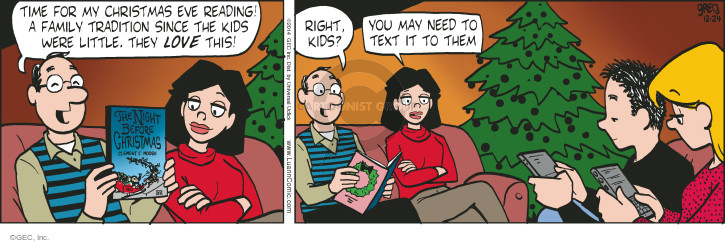 Comic Strip Greg Evans  Luann 2014-12-24 holiday tradition