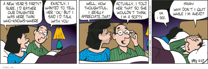 Comic Strip Greg Evans  Luann 2014-12-27 sigh