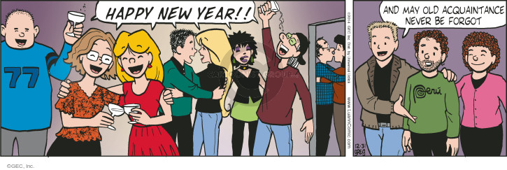 Comic Strip Greg Evans  Luann 2014-12-31 New Year