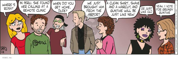 Cartoonist Greg Evans  Luann 2015-01-02 Rosa