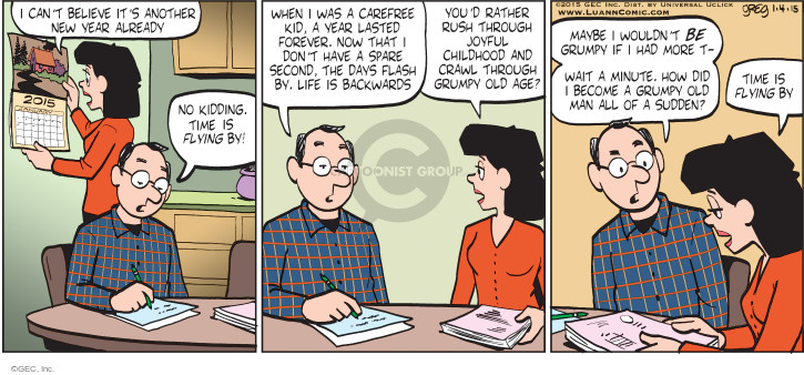 Comic Strip Greg Evans  Luann 2015-01-04 New Year
