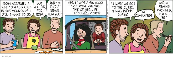 Cartoonist Greg Evans  Luann 2015-01-06 Rosa