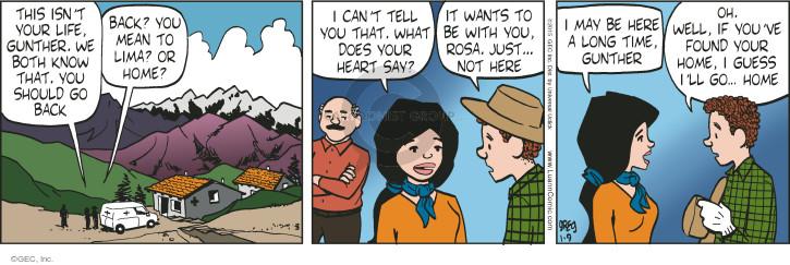 Cartoonist Greg Evans  Luann 2015-01-09 Rosa