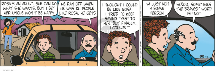 Comic Strip Greg Evans  Luann 2015-01-12 courageous