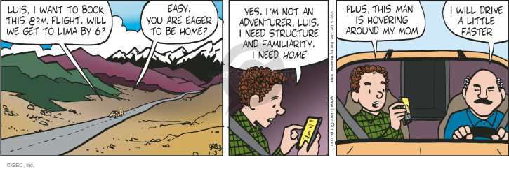Comic Strip Greg Evans  Luann 2015-01-13 familiarity