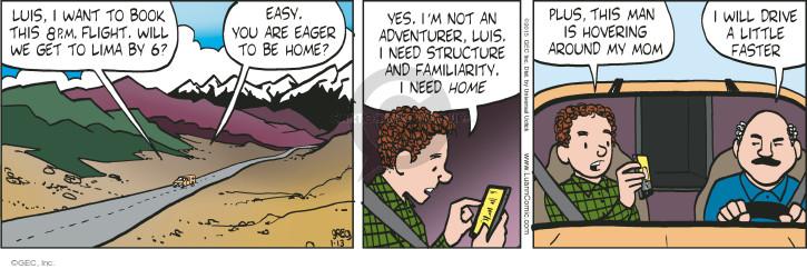 Cartoonist Greg Evans  Luann 2015-01-13 book