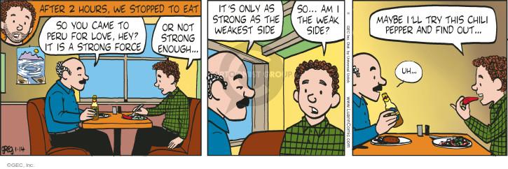 Cartoonist Greg Evans  Luann 2015-01-14 eating out