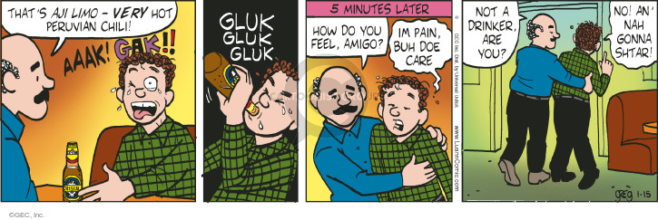 Comic Strip Greg Evans  Luann 2015-01-15 beverage