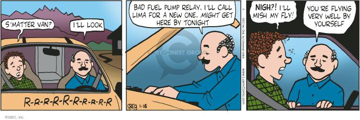 Comic Strip Greg Evans  Luann 2015-01-16 automobile