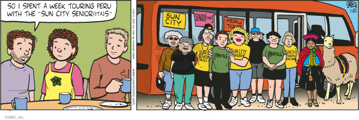Comic Strip Greg Evans  Luann 2015-01-21 vacation travel